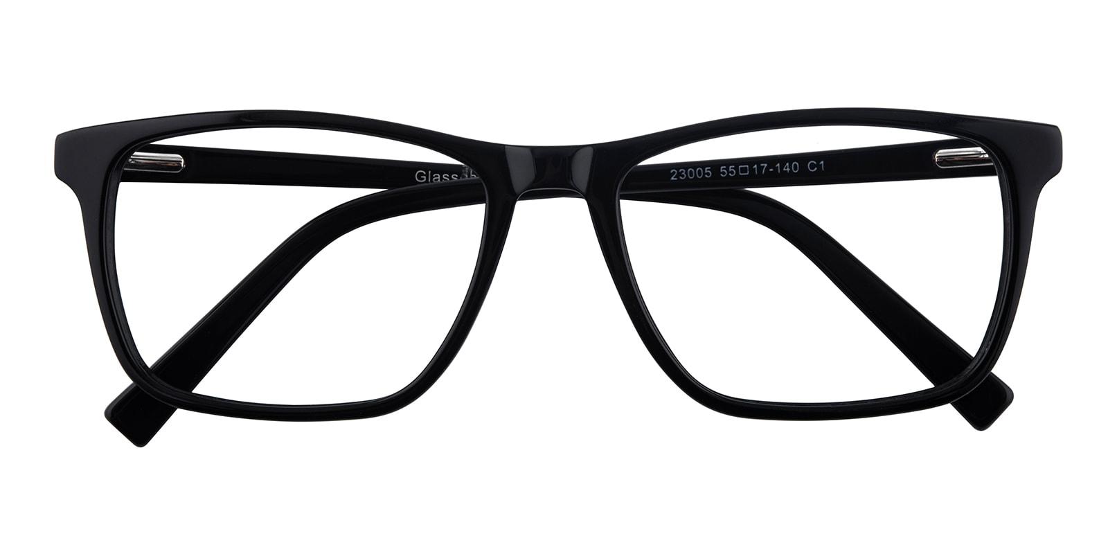 Blume Rectangle - Black Eyeglasses | GlassesShop.com
