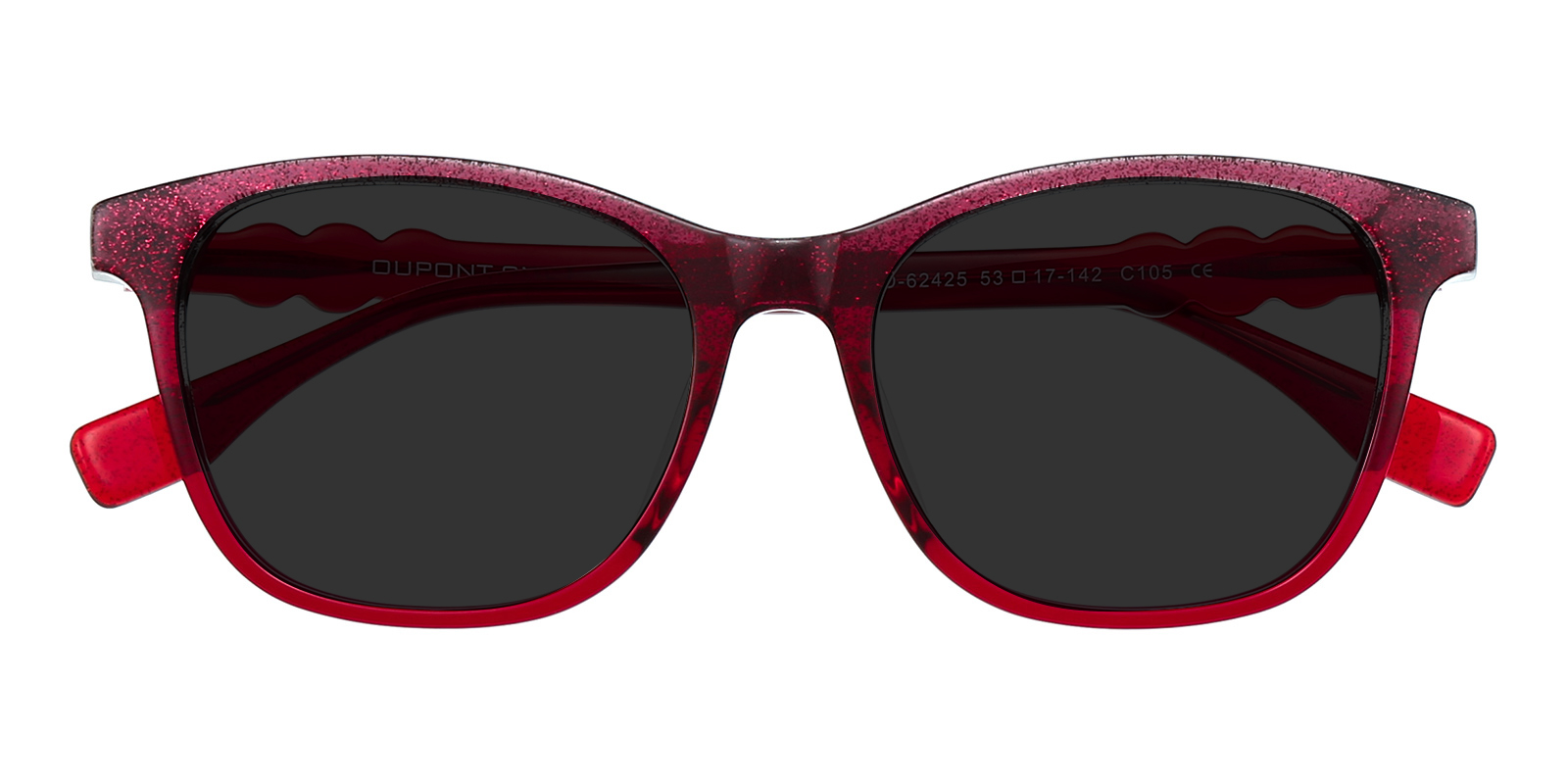 Women's Classic Wayframe Sunglasses, Full Frame Plastic Red - SUP0732