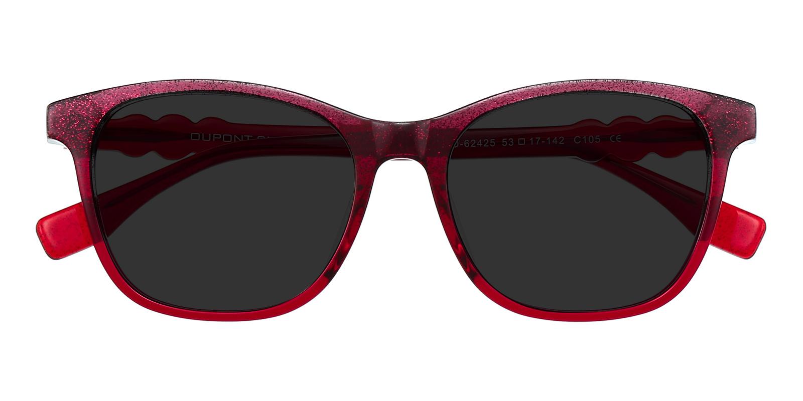 Women's Classic Wayframe Sunglasses, Full Frame Plastic Red - SUP0732